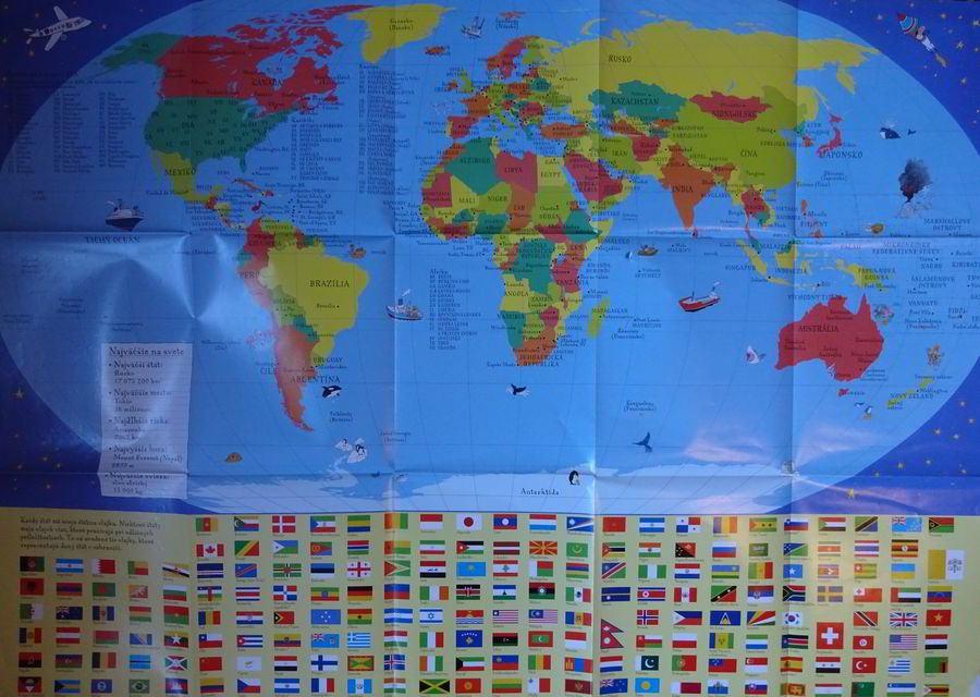 mapa so štátnymi vlajkami