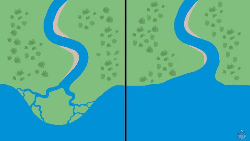 Prečo majú niektoré rieky deltu? Aakodelta vzniká?