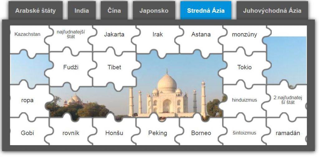 Ázijské puzzle (hra kregiónom svetadielu)