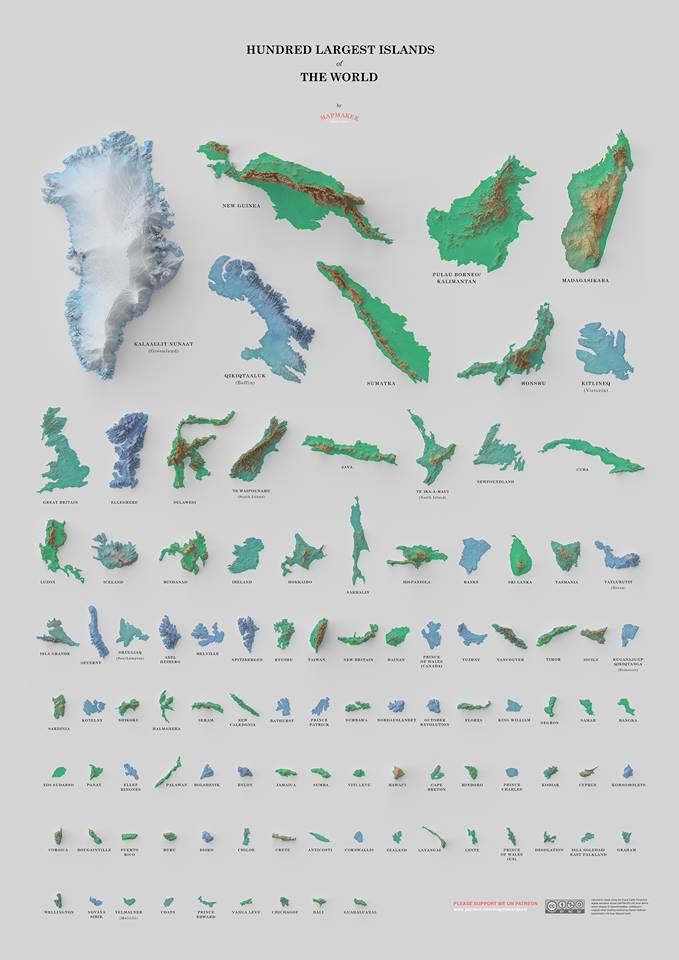 100 najväčších ostrovov sveta môžete mať ajnaplagáte A2