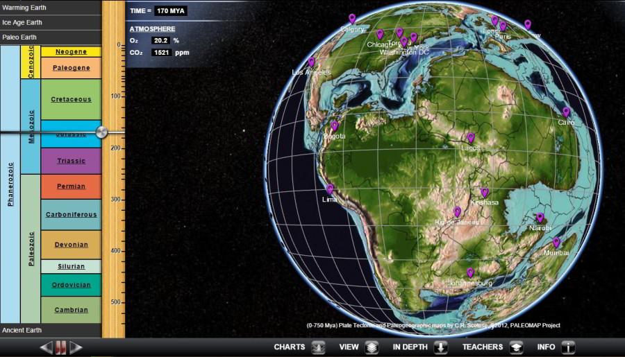 Glóbus, cezktorý pochopíte geologický vývoj Zeme