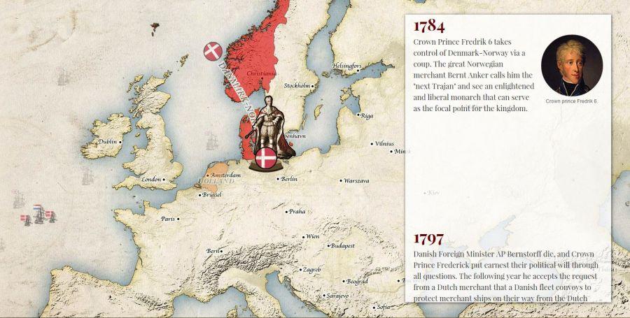 Moderné dejiny Nórska vmapovom príbehu