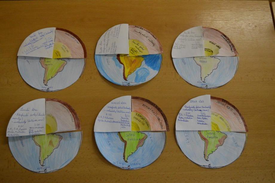 vrstvy Zeme papierový model