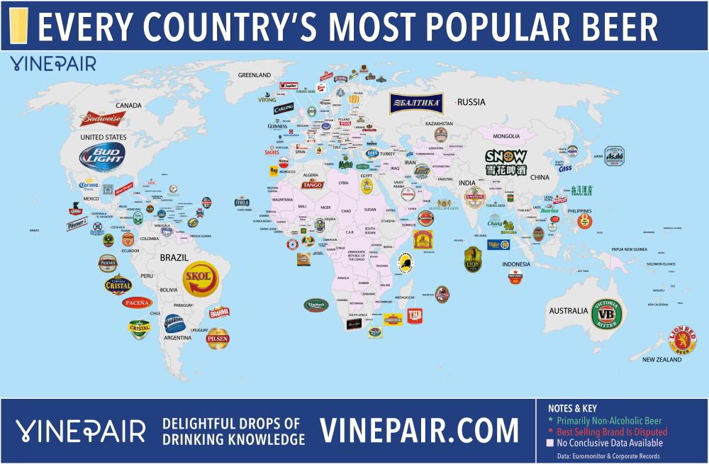 Máte chuť najedno chladené? Pozrite si pivnú mapu sveta.