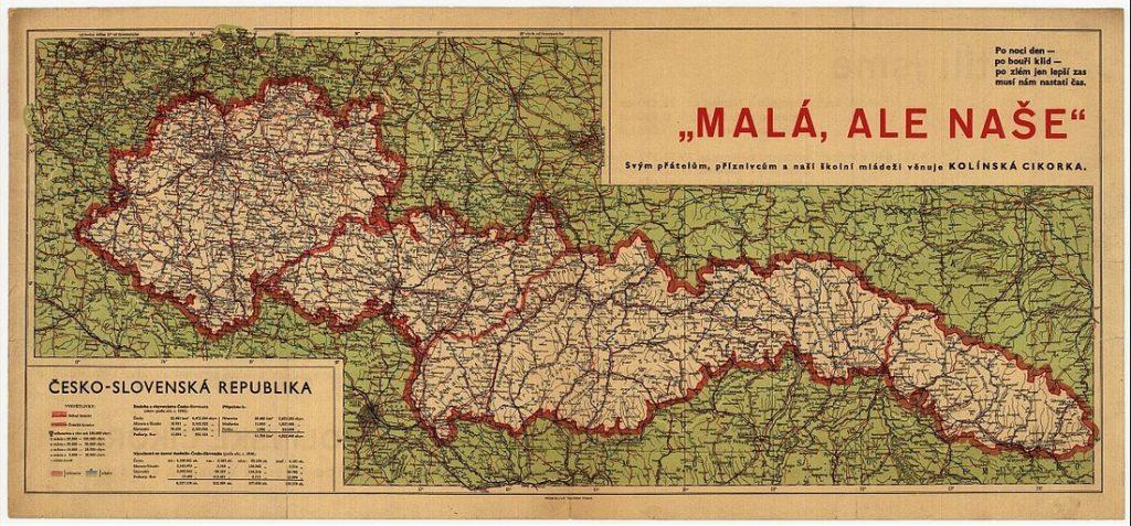 Malá, ale naše –unikátna mapa Česko-Slovenska zroku 1938