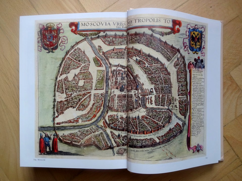 historická mapa Moskva