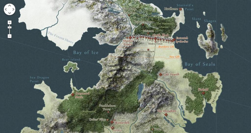Hra o tróny mapa