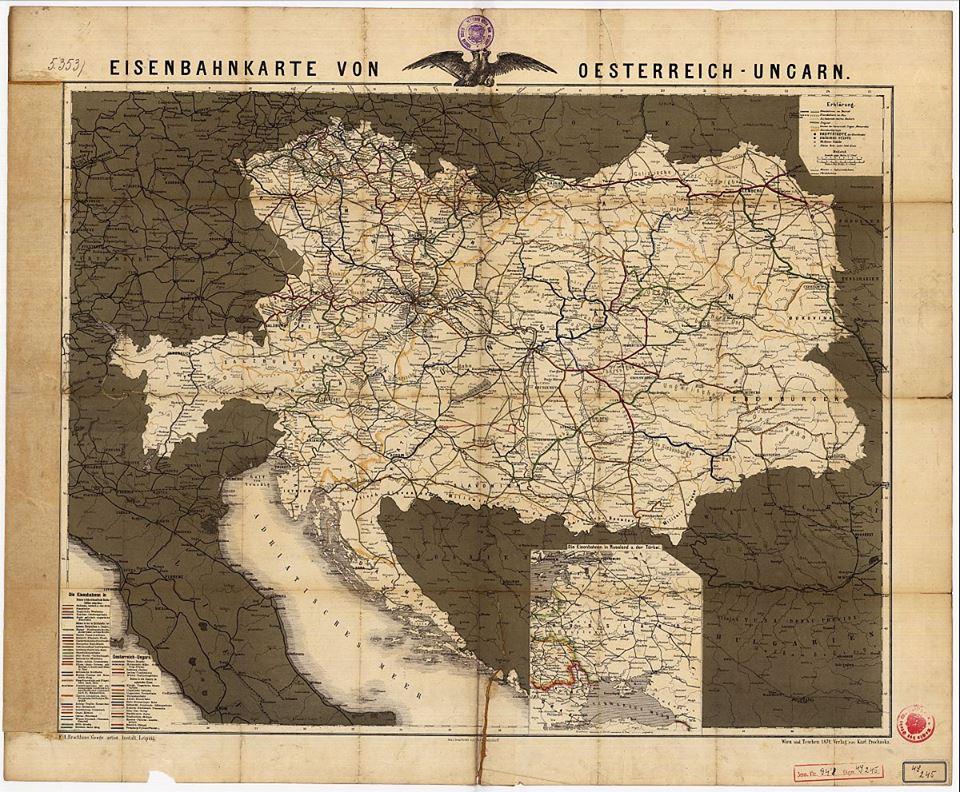 Mapa železničnej siete Rakúsko-Uhorska
