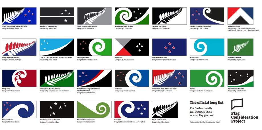 Nový Zéland si vyberá štátnu vlajku. Ktorú by ste vybrali vy?