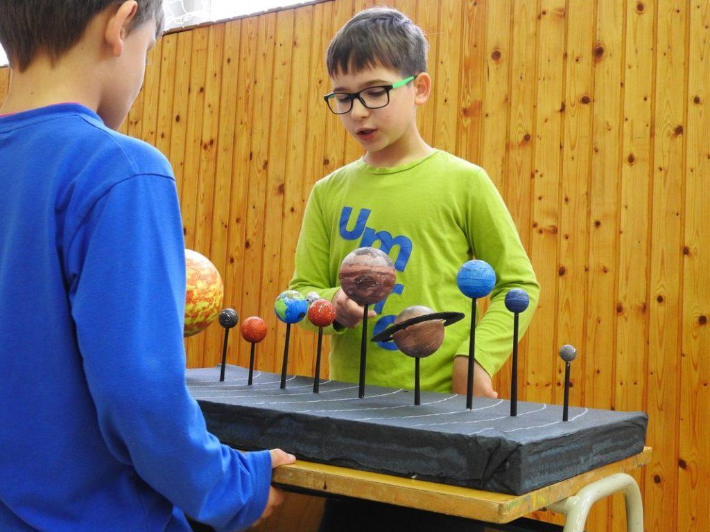 model slnečnej sústavy škola