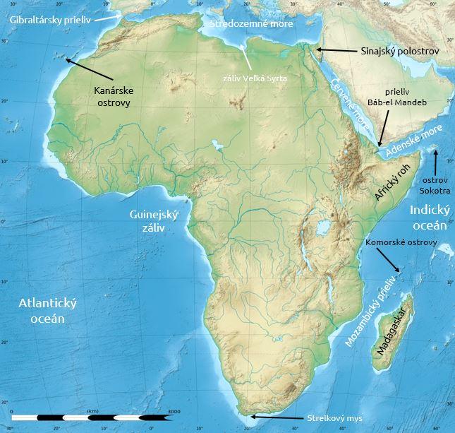 Afrika zálivy a ostrovy