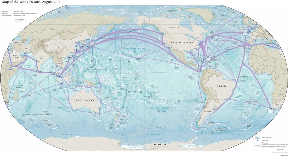 Pozrite si najvyťaženejšie námorné trasy vosvete