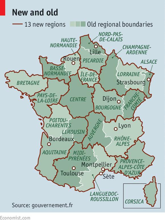 Francúzsko prekresľuje mapu regiónov