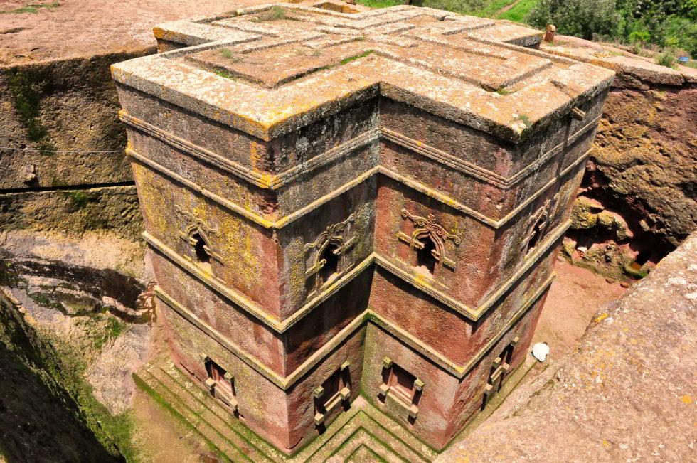 Lalibela ajej vskalách vytesané kostoly