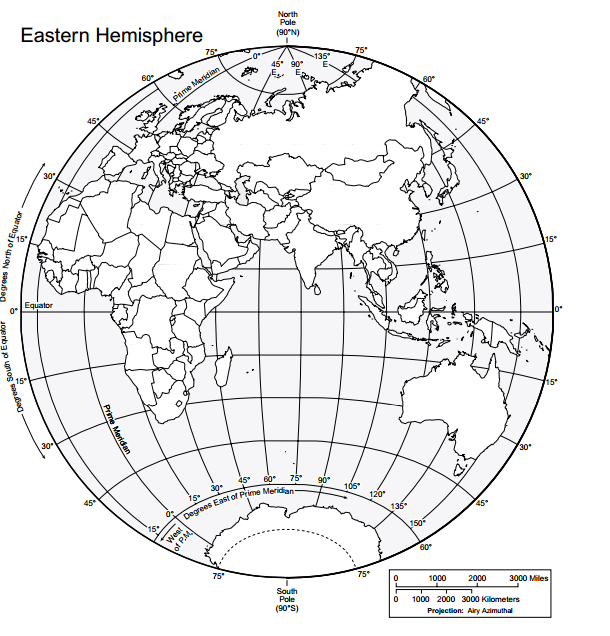 Obrysové mapy sosúradnicovou sieťou