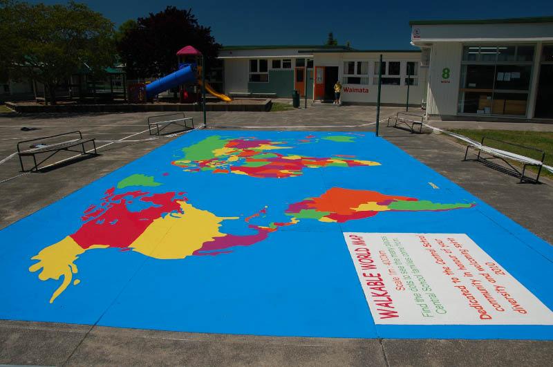 veľká mapa školský dvor