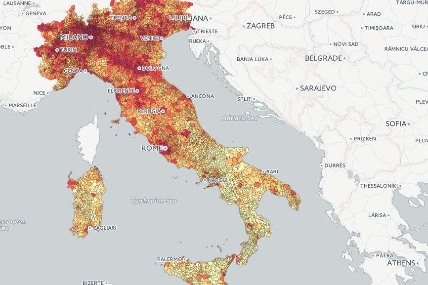Sever protijuhu –akoekonomika rozdeľuje Taliansko