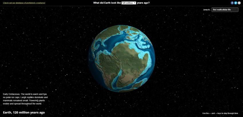 Pozrite si glóbus svývojom pozemských kontinentov