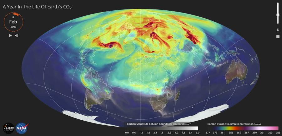 Rok života oxidu uhličitého naZemi