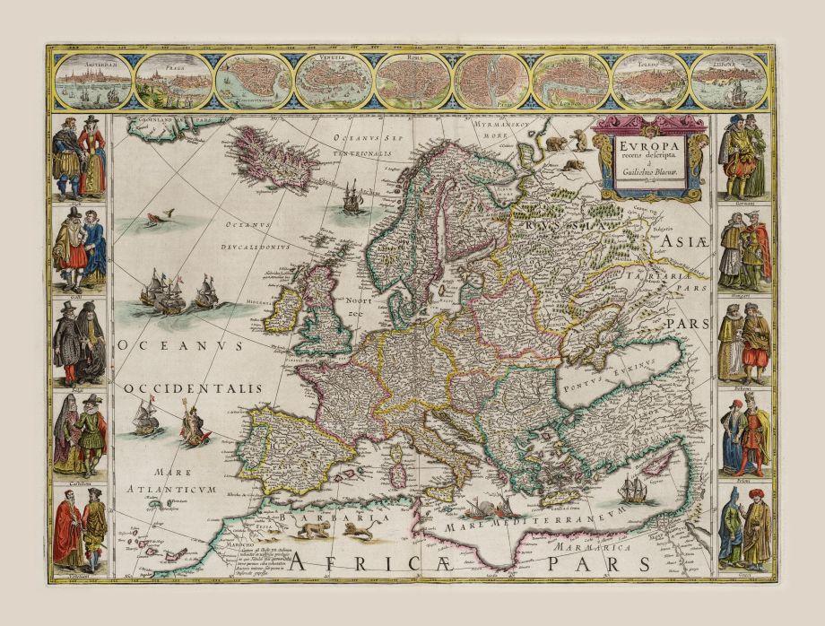 Europa recens Descripta –historická mapa akoumelecké dielo