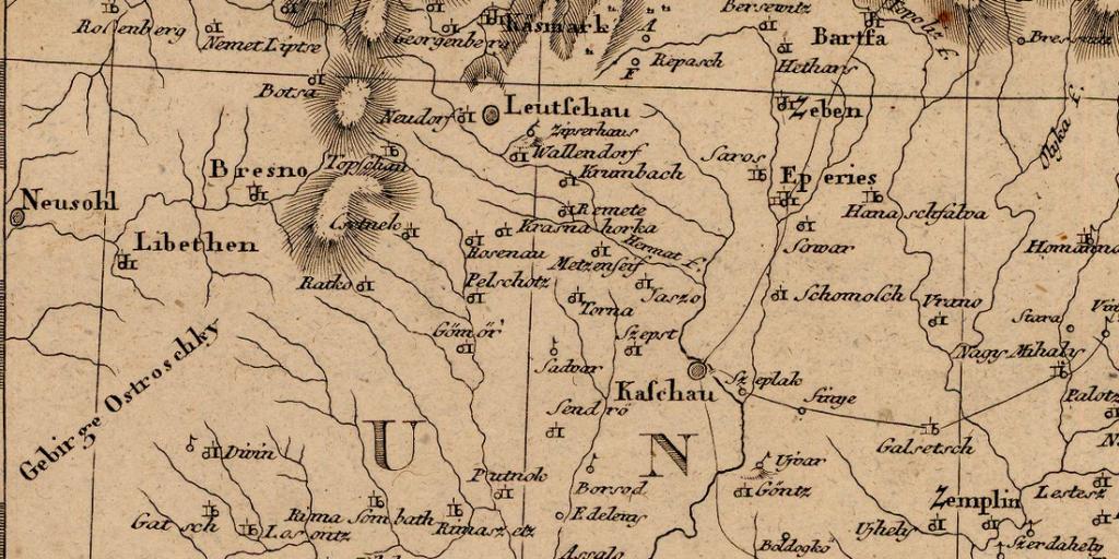 historické mapy stredná Európa