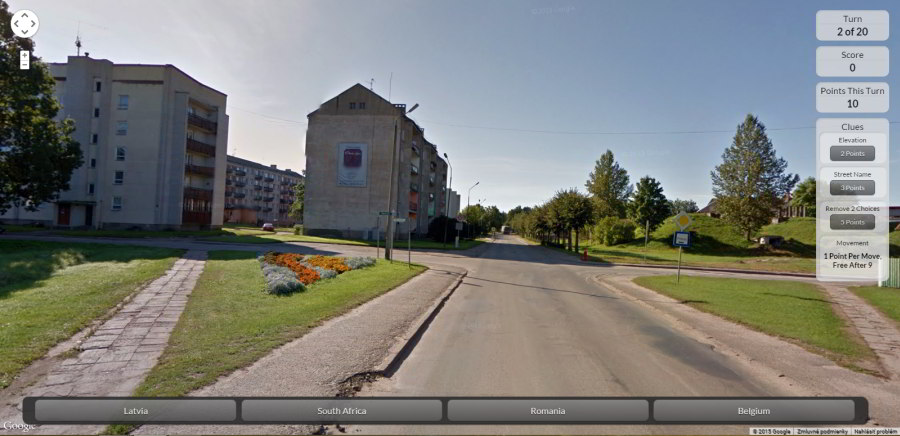 google street view hry