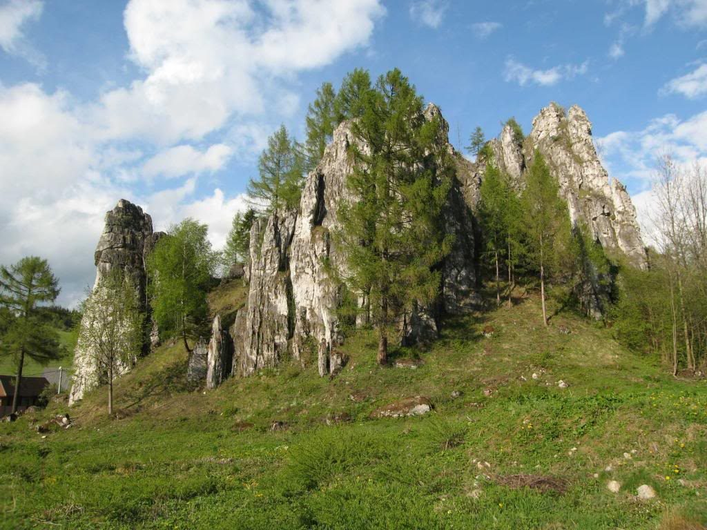 skalné veže Komjatná