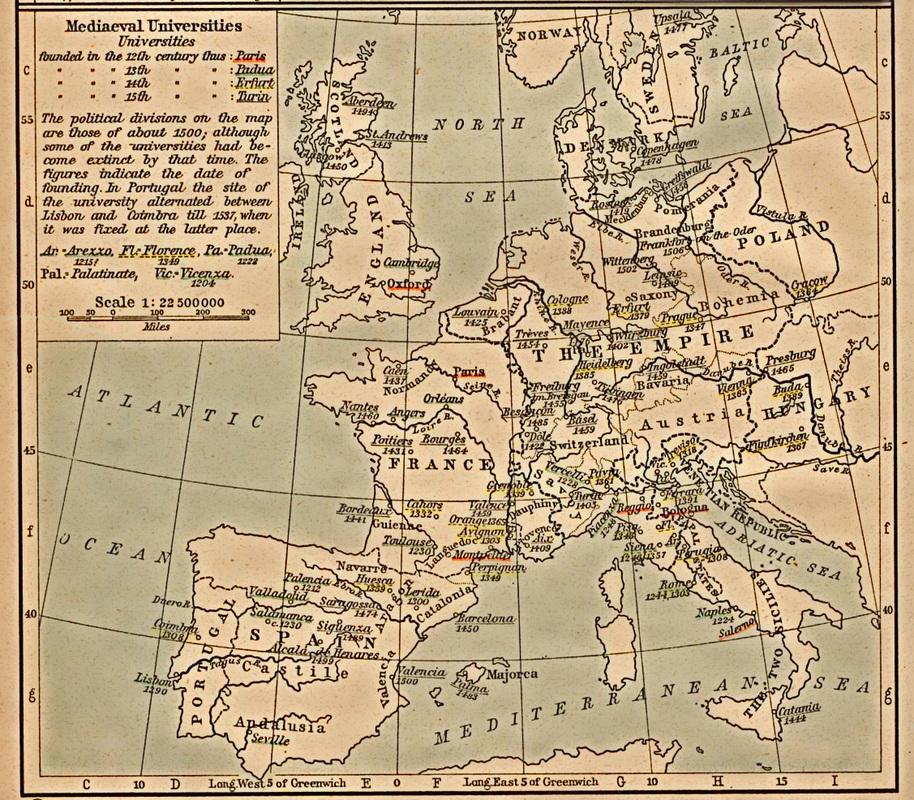 Európske stredoveké univerzity