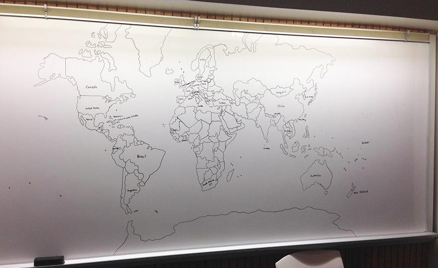 Pozrite si mapu sveta, ktorú spamäti nakreslil 11 ročný chlapec