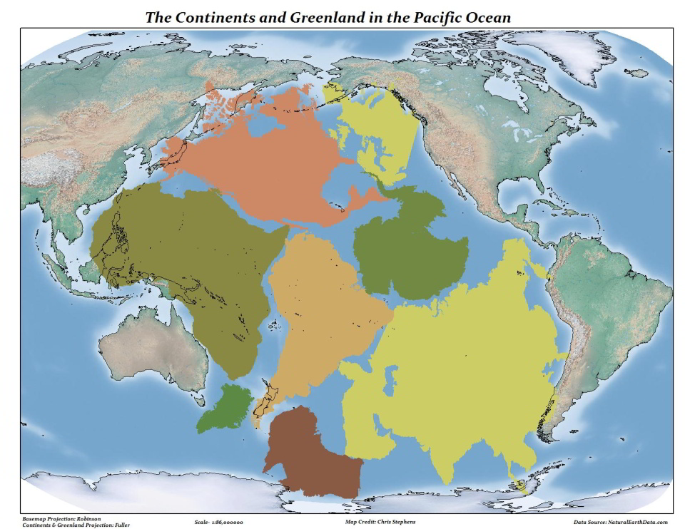 Tichý oceán je takveľký, žeby sa doň zmestila všetka pevnina Zeme