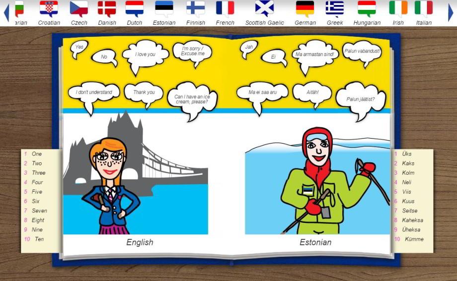 Spoznajte jazyky Európy cezinteraktívny detský slovník
