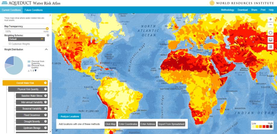 Voda akorizikový faktor prežitia (interaktívny atlas)