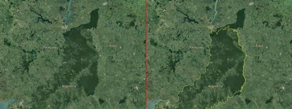 Hranice, ktoré vidieť nasatelitných snímkach