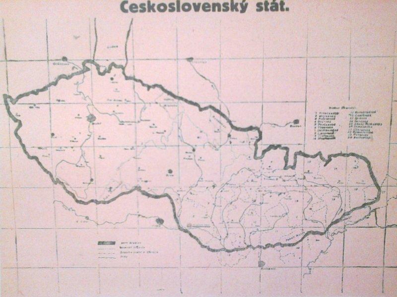 prvá mapa Československa
