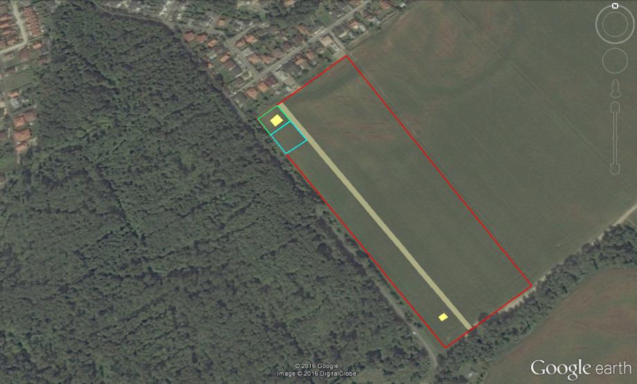 meranie plochy Google Earth