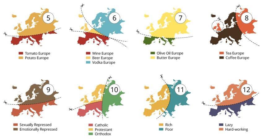 20 spôsobov ako rozdeliť Európu