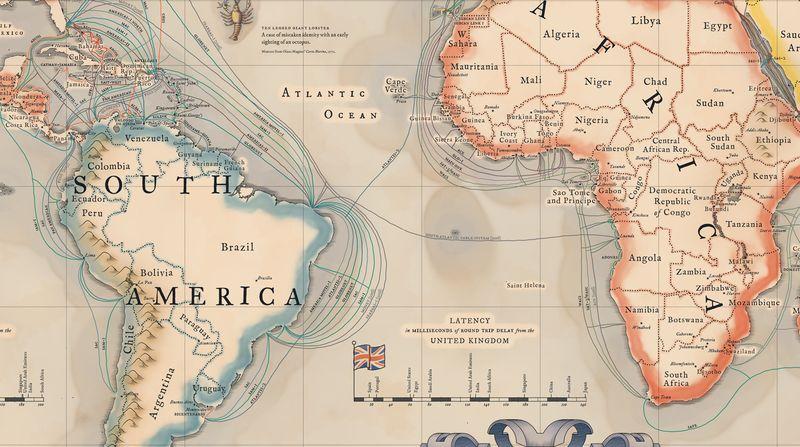 Mapa podmorských internetov