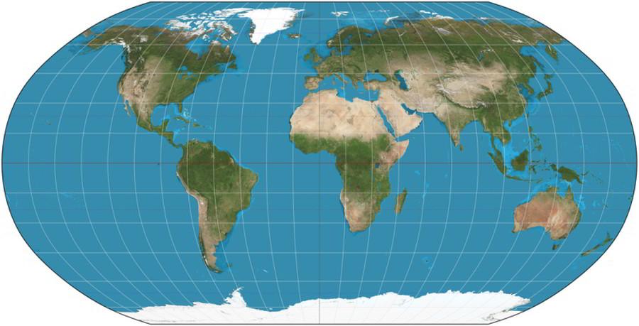 Robinsonovo zobrazenie mapa sveta