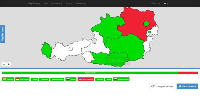 Zahrajte sa najlepšie mapové hry vČesku aSlovensku