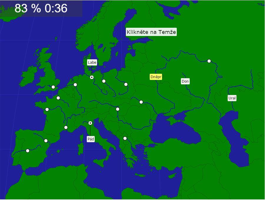 mapový kvíz Seterra