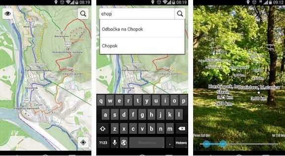 turistické mapy aplikácia