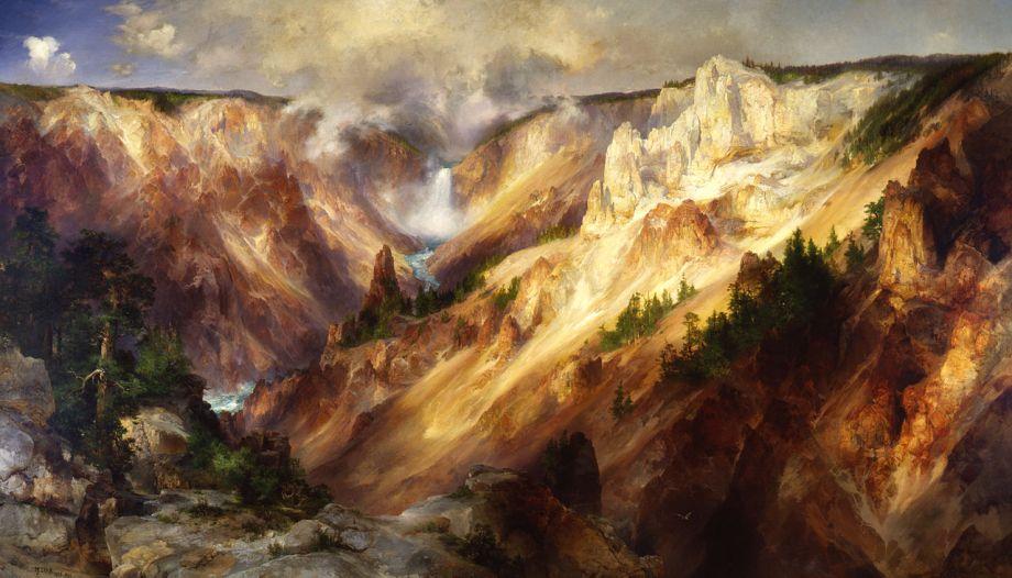 Maľby, ktoré pomohli vzniknúť prvému národného parku Yellowstone