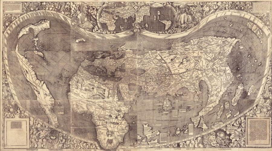 Mapa, naktorej sa zrodila Amerika
