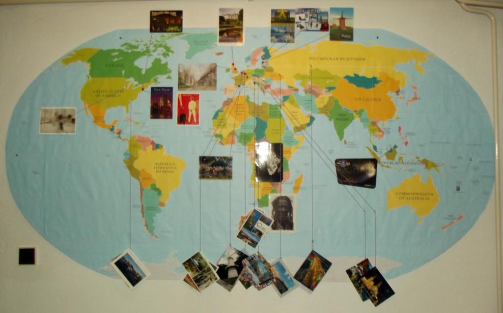 Postcrossing geografia mapa pohľadnice