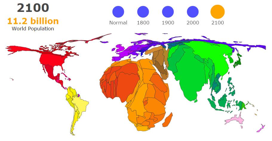 Koľko nás bude naZemi vroku 2100? Akde budeme žiť?