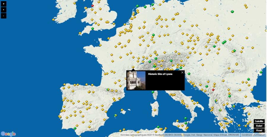 interaktívna mapa pamiatky UNESCO