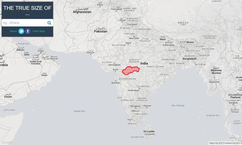 Nenechajte sa oklamať, pozrite si skutočnú veľkosť štátov