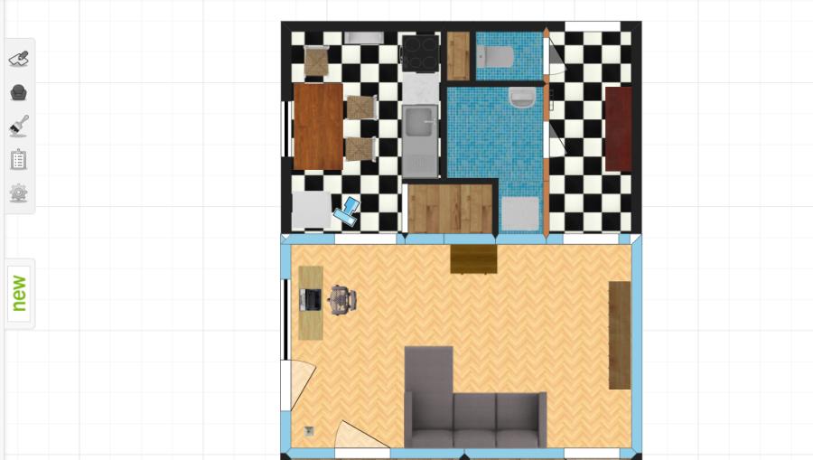 Room Arranger aplikácia na návrh domov a bytov