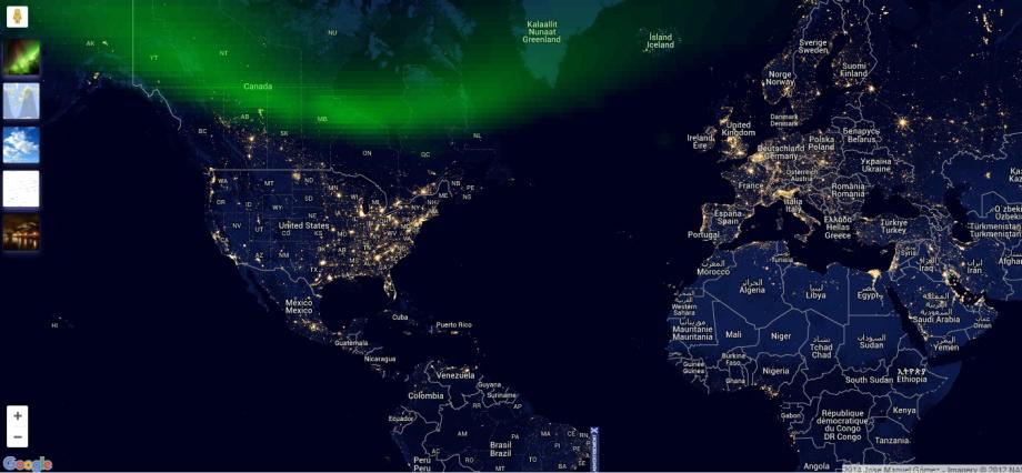 Nočná mapa sveta