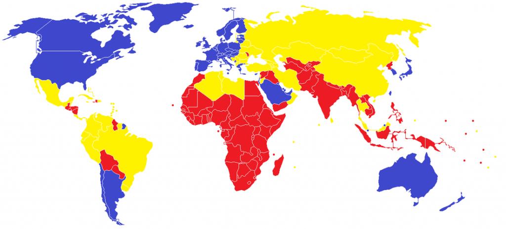 Štáty sveta podľa indexu ľudského rozvoja